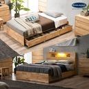 (매트포함)포니 원목 슈퍼싱글 퀸 수납 침대 모음/LED