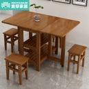 다용도상 접이식 식탁의자 조합 소형 가정용 심플