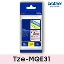 브라더정품라벨테이프 Tze-MQE31_파스텔핑크바탕/블랙